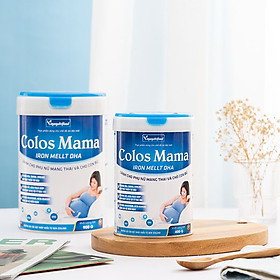 Sữa bột Colos Mama Iron Mellt DHA Vinanutrifood chứa dưỡng chất bổ sung sắt, Acid Folic giúp giảm nguy cơ dị tật ở thai nhi, phát triển trí não từ trong bụng mẹ nâng cao sức đề kháng dành cho mẹ và bé