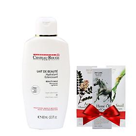 Sữa Dưỡng Kích Trắng Da Toàn Thân CHATEAU ROUGE Lait De Beaute Soin Unifiant 400ml + Tặng 1 Kem dưỡng da tay 3W Clinic 100ml (Mùi ngẫu nhiên)