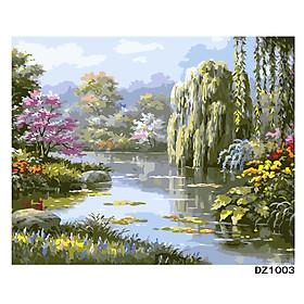 Tranh sơn dầu số hoá tự tô đã căn sẵn khung 40x50 cm (painting by number)