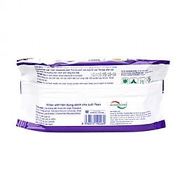 Khăn giấy ướt Kháng khuẩn  Teencare 20 tờ/gói (Màu tím)