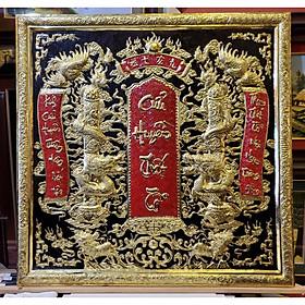 Liễn thờ tổ tiên đồng vàng nguyên chất- Cửu Huyền Thất Tổ -A224