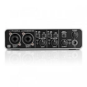 Sound card thu âm Behringer U-PHORIA UMC202HD thu âm chuyên nghiệp - hàng chính hãng