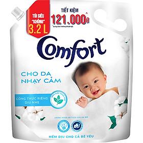 Nước Xả Vải Comfort Cho Da Nhạy Cảm (3.2L/Túi)  - Phù Hợp Với Làn Da Em Bé