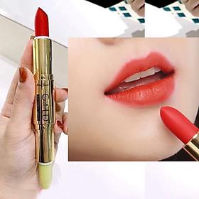 Son GOLD Matte Lipstick 2in1 Mini Garden Màu Đỏ Cam-0
