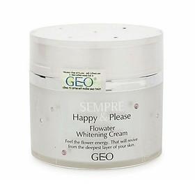 Kem Dưỡng Trắng Da Sempre Happy & Please Flowater Whitening Cream Geo_Py07 (50g)