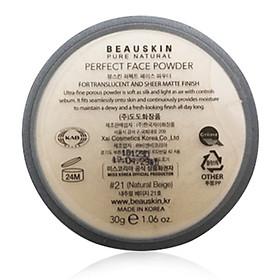 Phấn phủ bột Beauskin Perfect Face Powder Hàn Quốc 30g #21 Natural Beige tặng kèm móc khoá-3