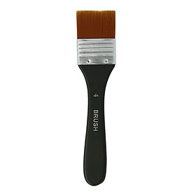 1pc Professional Flat Paint Brush Nylon Trim Art Paintbrush Wooden Handle for Gesso Stains Glues Varnishes Paint Acrylic