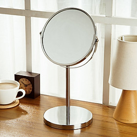 Ou Runzhe mirror 7 inch double-sided rotatable makeup mirror HD zoom details desktop Princess mirror mirror