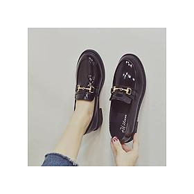 Giày nữ Oxford da bóng OX2_ phong cách Vintage dễ phối đồ cho cô nàng thời thượng