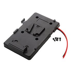 V Mount V-lock D-tap BP Battery Plate Adapter for Sony DSLR DV Video Camera