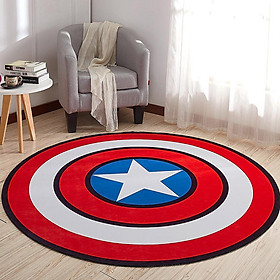 Non Slip Cartoon Printing Round Crawling Carpet for Computer Chair Kids Room
