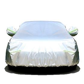 Bạt xe hơi, áo, bạt trùm xe hơi, xe ôtô 4 chỗ đến 7 chỗ, lớp bạc phản quang chống nóng, mưa, xước sơn, vải dù Polyester Oxford Fabric cao cấp không dễ rách -BPXM