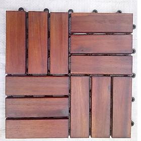 Thùng ván gỗ lót sàn 12 nan- nâu đỏ