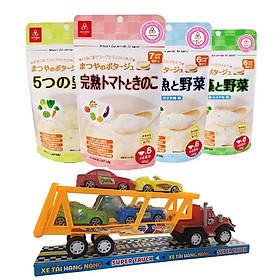 Combo 4 gói cháo gạo koshihikari ăn dặm Matsuya – tặng 1 xe container và 4 xe tải