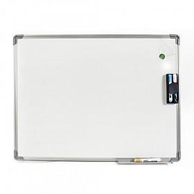 Bảng từ trắng viết bút dạ 80x120cm (Tặng bút, bông lau, nam châm)