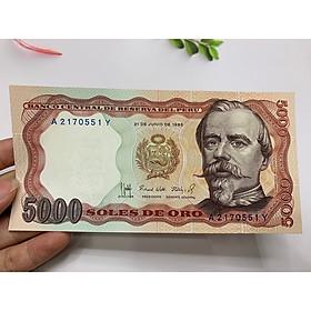 Tiền 5000 Peru cổ cảnh khai thác mỏ - ở châu Mỹ - tặng phơi nylon bảo quản tiền