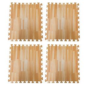 Bộ 4 tấm thảm xốp lót sàn an toàn Thoại Tân Thành hình vân gỗ (60x60cm)