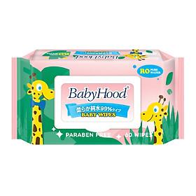 Khăn Ướt Em Bé BabyHood Không Mùi (60 Tờ)