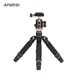 """Andoer 53cm/21"""" Travel Portable Mini Tabletop Tripod with Ball Head Quick Release Plate for Canon Nikon Sony A7 DSLR"""