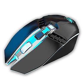 Chuột Máy tính Bluetooth 6 nút có LED - Sói Bạc X5 - Phù hợp mọi thiết bị Macbook, iPad, TV