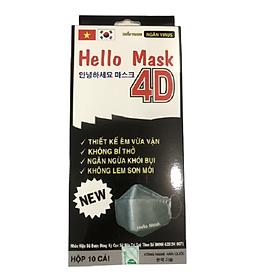 Khẩu trang 4D kháng khuẩn Hello Mask Fashion - Premium