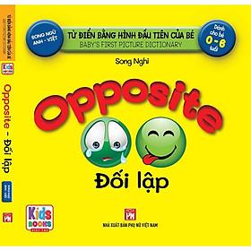Sách - Baby'S First Picture Dictionary - Từ Điển Bằng Hình Đầu Tiên Của Bé - Đối lập - Oppotile - (Bìa Cứng)