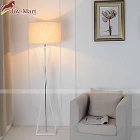 Đèn Ngủ Cây Đứng - Đèn Đứng Trang Trí Phòng Ngủ Thiết Kế Hiện Đại Thân Hợp Kim Sơn Tĩnh Điện Cao Cấp, Chao Vải, Tặng Kèm Bóng LED ML8077