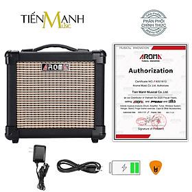 [Bluetooth, Pin sạc]  Amply Aroma AG-10 BK - Loa Ampli Guitar AG10 Amplifier Hàng Chính Hãng - Kèm Móng Gẩy DreamMaker