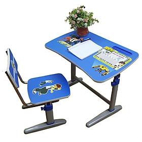 Bộ bàn ghế học sinh chống gù chống cận cho bé trai màu xanh Hòa Phát