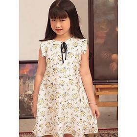 Đầm cho bé gái họa tiết dễ thương xinh xắn GUMAC DKA443  màu Vàng ( dành cho bé gái từ 2 tuổi đến 9 tuổi)