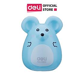 Gọt chì mini Deli - Hình chú chuột - Trắng/Xanh dương/Hồng - 1 chiếc - 569