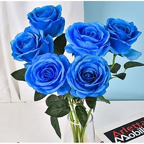 Hoa hồng giả trang trí nhà của bán làm việc, bàn ăn, nhà hàng, quán cafe [Tặng thanh dũa móng tay ngẫu nhiên]