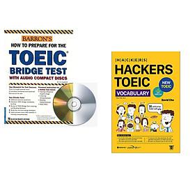Combo 2 cuốn sách: Toeic Bridge Test (kèm 2CD) + Hackers Toeic Vocabulary