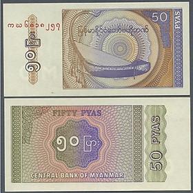 Tờ 50 pyas nhỏ nhỏ của Myanmar