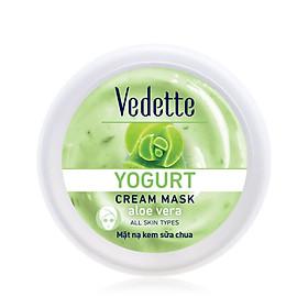 Mặt nạ sữa chua nha đam Dưỡng Ẩm Mịn Màng VedetteYogurt Cream Mask - Aloe Vera hũ 120ml