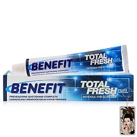 Kem đánh răng giảm ê buốt dạng gel Benefit Total Fresh Gel 75ml tặng kèm móc khóa