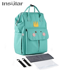 Insular Mommy Bag Backpack Large Capacity Waterproof Baby Bags Diaper Bag with Changing Pad Stroller Hanging Strap
