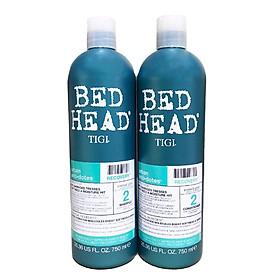 TIGI Bộ dầu gội và dầu xả phục hồi và bảo vệ tóc nhuộm Bed Head 750ml (màu xanh)