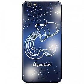 Ốp lưng  dành cho OPPO A71 mẫu Cung hoàng đạo Aquarius (xanh)