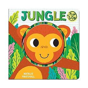 Sách : Flip And Spin jungle - chủ đề động vật ( sách nhập khẩu )