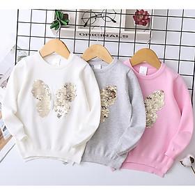 Áo len hình bướm đổi màu bé gái 3-8 tuổi