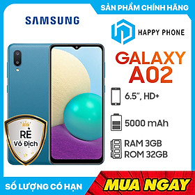 Điện thoại Samsung Galaxy A02 (3GB/32GB) - Hàng chính hãng - Đã kích hoạt bảo hành điện tử
