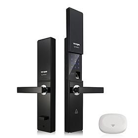 Khóa cửa điện tử VICKINI 39801.002 OBP đen mờ. Mở bằng vân tay, mật mã, thẻ từ, chìa cơ, app. Hàng chính hãng