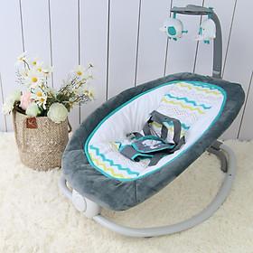 Ghế rung cao cấp cho bé gập gọn có nhạc Mastela 6915 - Màu xanh