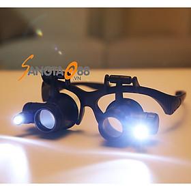 Kính lúp 8IN1 đeo mắt có đèn hỗ trợ sửa chữa linh kiện điện tử 9892G8KX (Tặng móc khóa mini 3in1 đa năng)