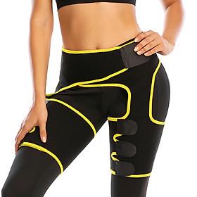 Women Low Waist Thigh Trimmer Neoprene Sweat Shapewear Slimming Leg 3 in 1 Waist Shapers Elasticity Adjustable Waist