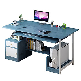 Bàn làm việc - Bàn để máy tính cây có ngăn chứa đồ - Giao màu ngẫu nhiên
