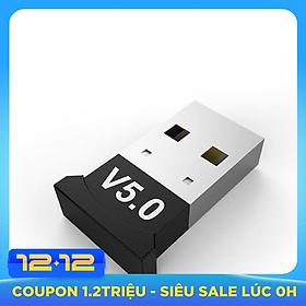 VINETTEAM USB Bluetooth 5.0 cho PC -USB Bluetooth Máy tính kết nối 20m - Hàng Nhập Khẩu
