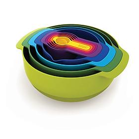 Hình đại diện sản phẩm British Joseph Joseph Rainbow Bowl Baked Set 9 Piece Rainbow Set Bowl and Noodle Salad Stir