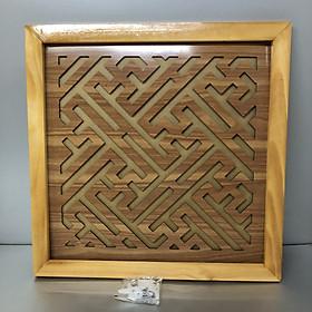 Tấm chống ám khói 3 lớp khung gỗ sồi vàng - TL04